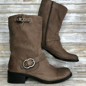 NEW Vince Camuto 12M Wilan Brown Mid Calf Boots